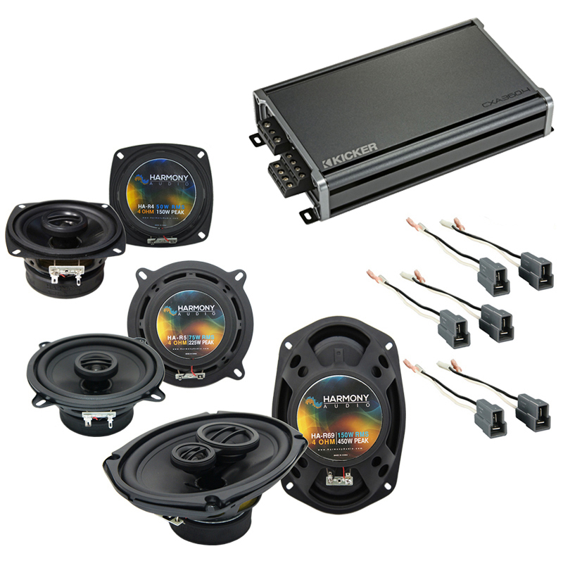 Compatible with Dodge Colt Vista 92-94 OEM Speaker Replacement Harmony R5 R4 R69 & CXA360.4 Amp