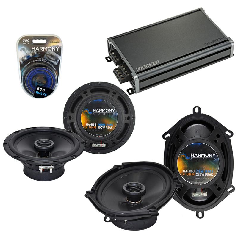 Compatible with Dodge Dakota 1987-1996 Factory Speaker Replacement Harmony R65 R68 & CXA360.4 Amp