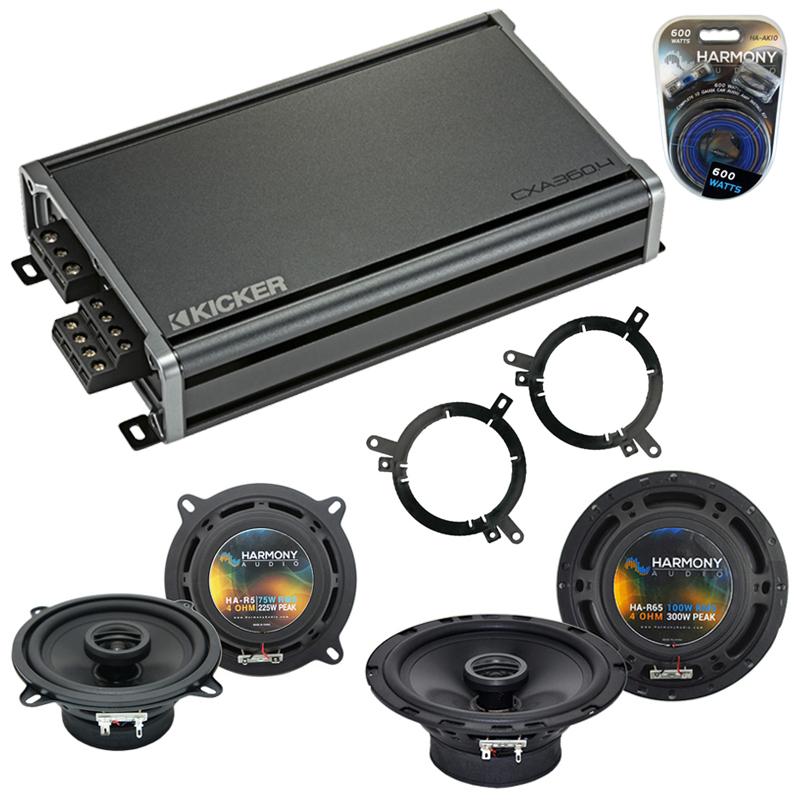 Compatible with Dodge Dakota 2001-2001 Factory Speaker Replacement Harmony R65 R5 & CXA360.4 Amp