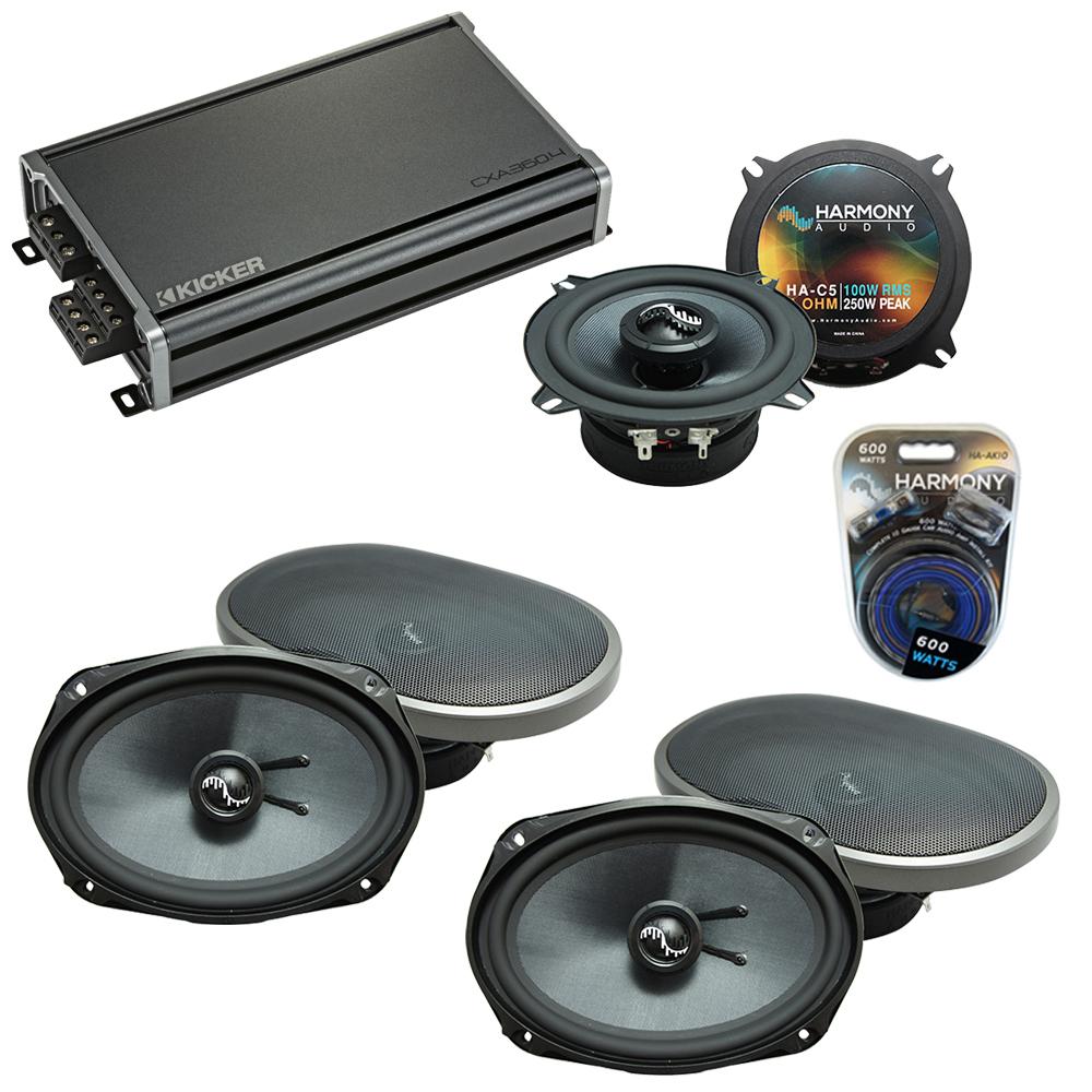 Compatible with Dodge Grand Caravan 08-17 Speakers Replacement Harmony (2) C69 & CXA360.4 Amp