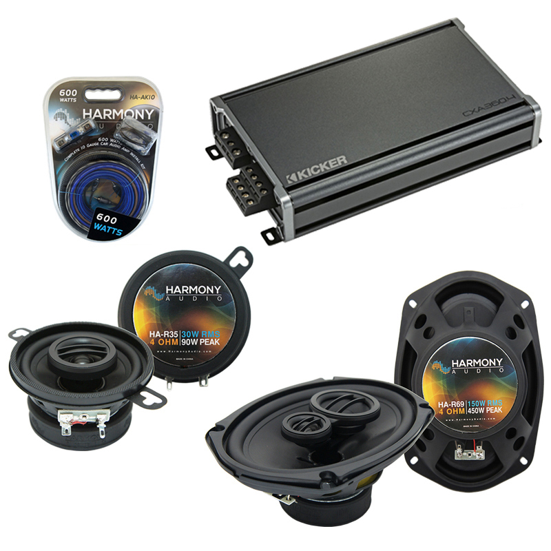 Compatible with Dodge Mirada 1979-1982 Factory Speaker Replacement Harmony R35 R69 & CXA360.4 Amp