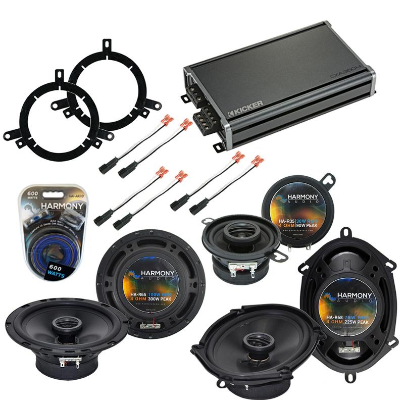 Compatible with Dodge Neon 1995-2001 Factory Speaker Replacement Harmony Speakers & CXA360.4 Amp