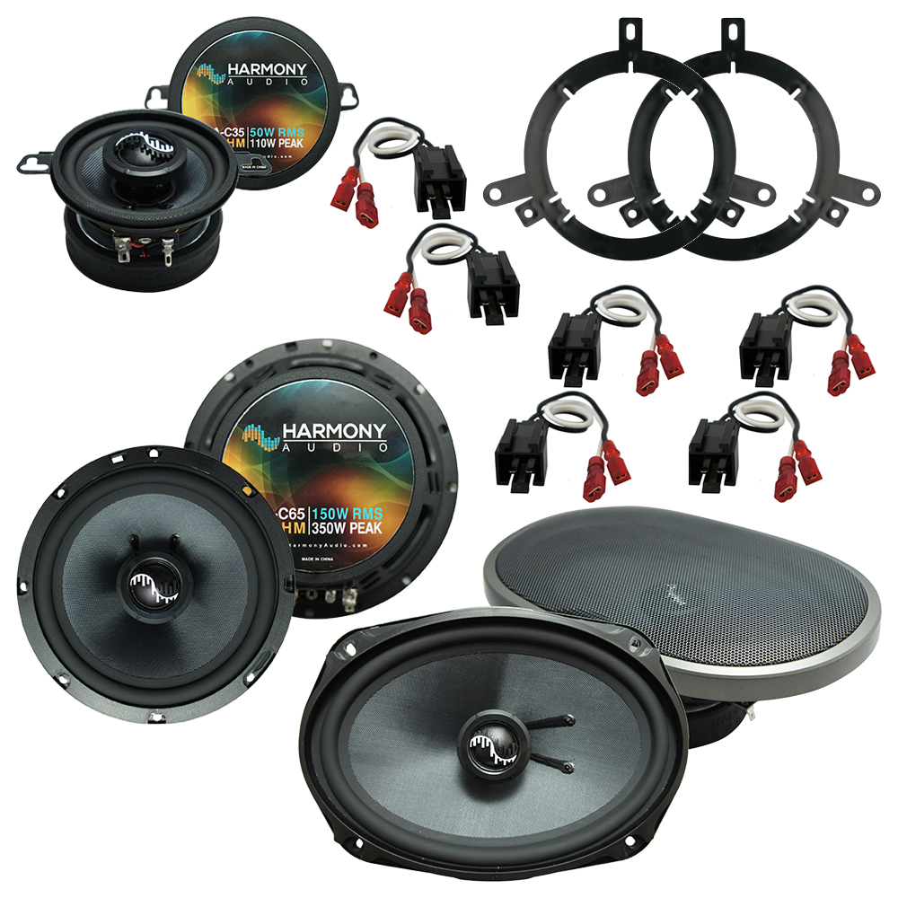 Fits Dodge Neon 2002-2006 Factory Premium Speaker Replacement Harmony Upgrade Package