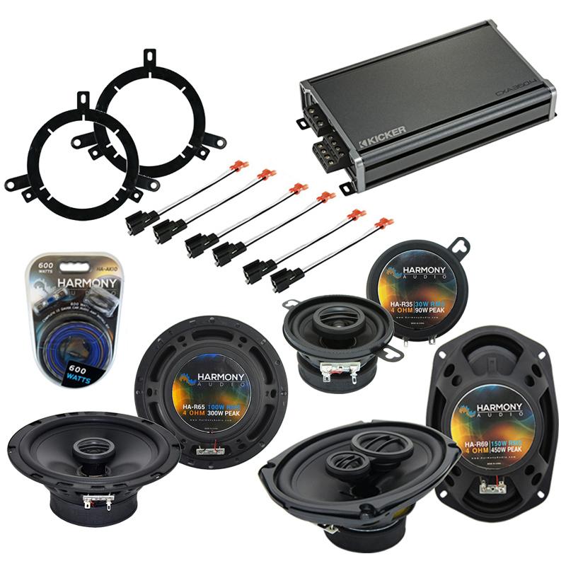 Compatible with Dodge Neon 2002-2006 Factory Speaker Replacement Harmony Speakers & CXA360.4 Amp