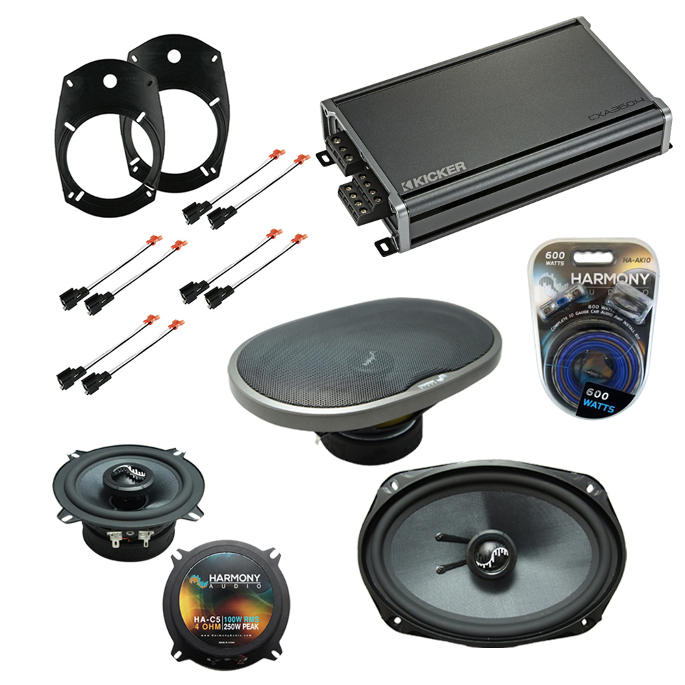 Compatible with Dodge Ram Truck 2500/3500 03-05 Replacement Harmony Premium Speakers & CXA360.4