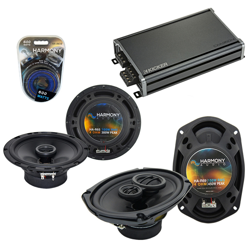 Compatible with Dodge Stealth 1990-1996 OEM Speaker Replacement Harmony R65 R69 & CXA360.4 Amp