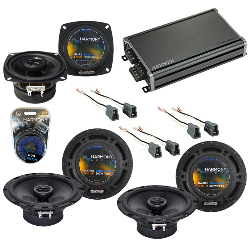 Compatible with Eagle Talon 1990-1994 Factory Speaker Replacement Harmony R65 R4 & CXA360.4 Amp