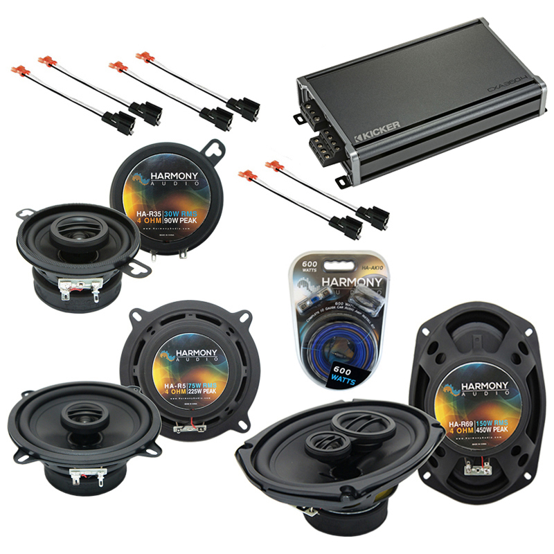Compatible with Eagle Vision 93-97 OEM Speaker Replacement Harmony R5 R35 R69 & CXA360.4 Amp