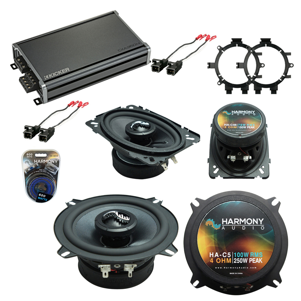 Compatible with GMC Sierra 1995-1998 OEM Speakers Replacement Harmony C5 C46 & CXA360.4 Amp