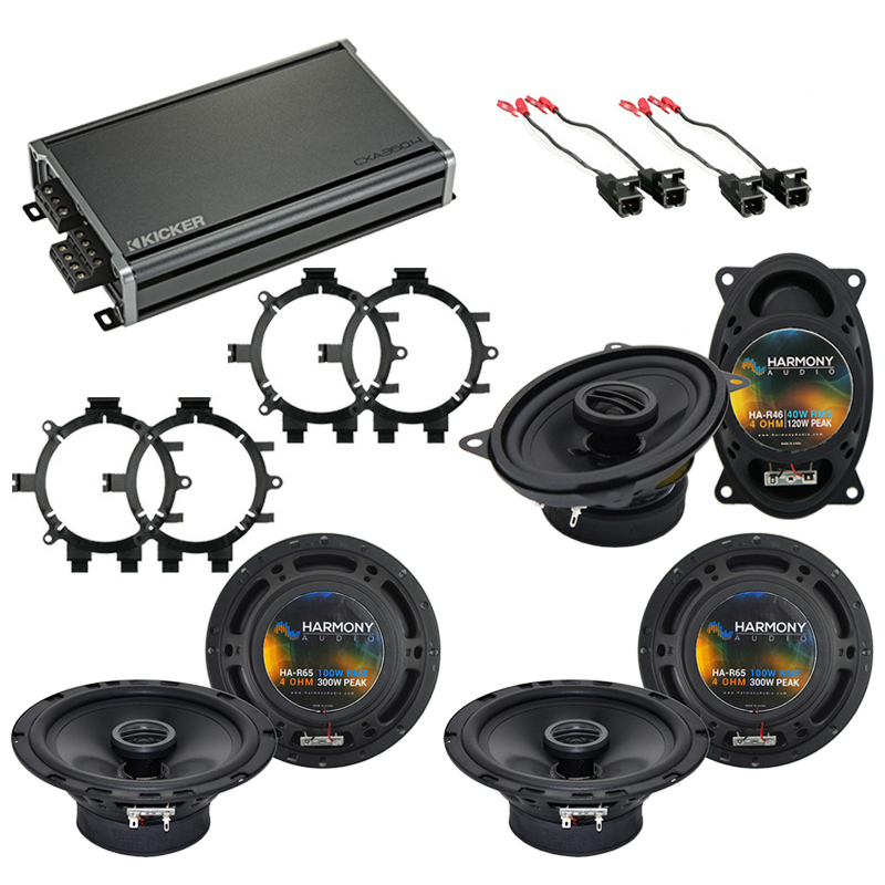 Compatible with GMC Sierra Classic 2007 OEM Speaker Replacement Harmony R5 R65 R46 & CXA360.4 Amp