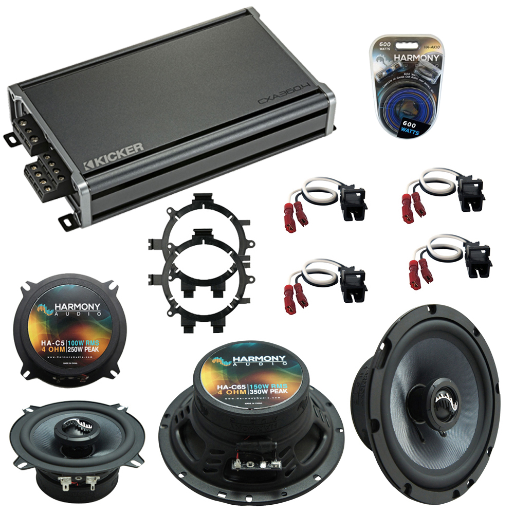 Compatible with GMC Suburban 1995-1999 Speakers Replacement Harmony C5 C65 & CXA360.4 Amp