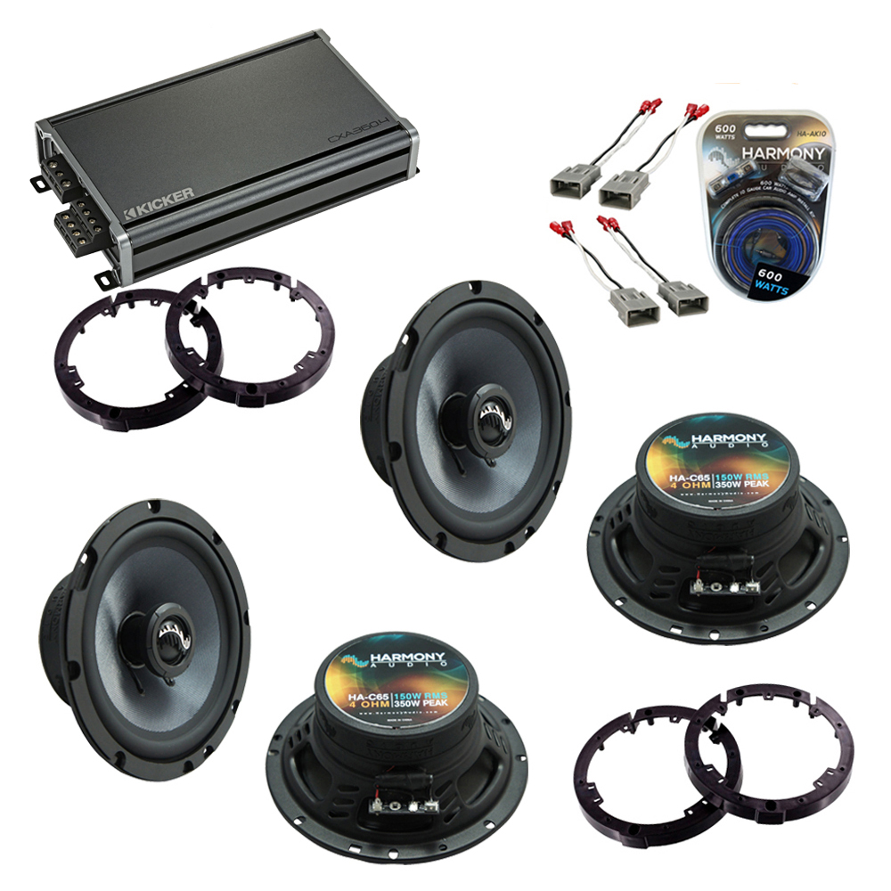 Compatible with Honda Civic 2001-2005 Factory Speakers Replacement Harmony (2) C65 & CXA360.4