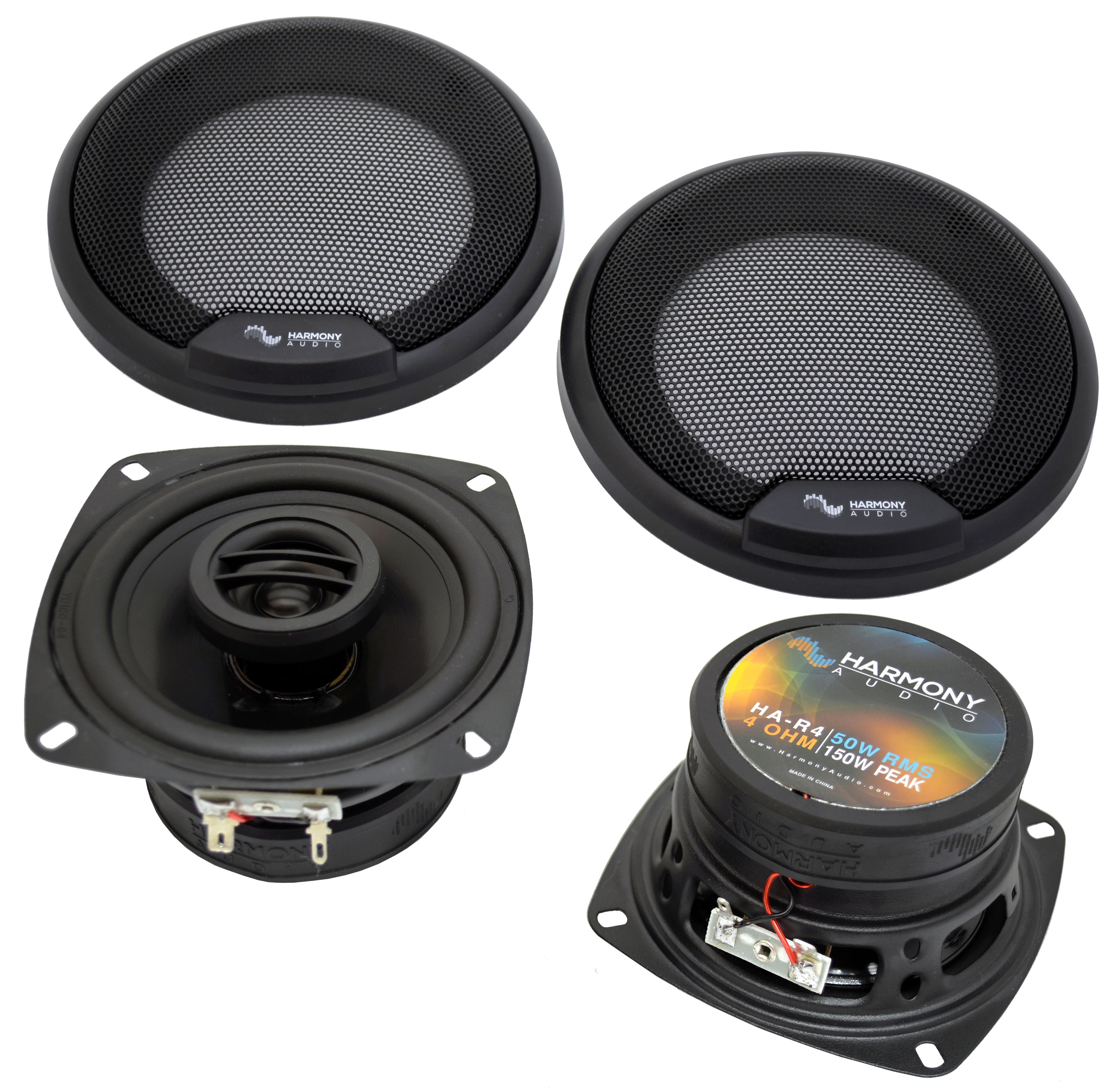 Fits Hyundai Accent 2002-2005 Front Door Replacement Harmony HA-R4 Speakers New