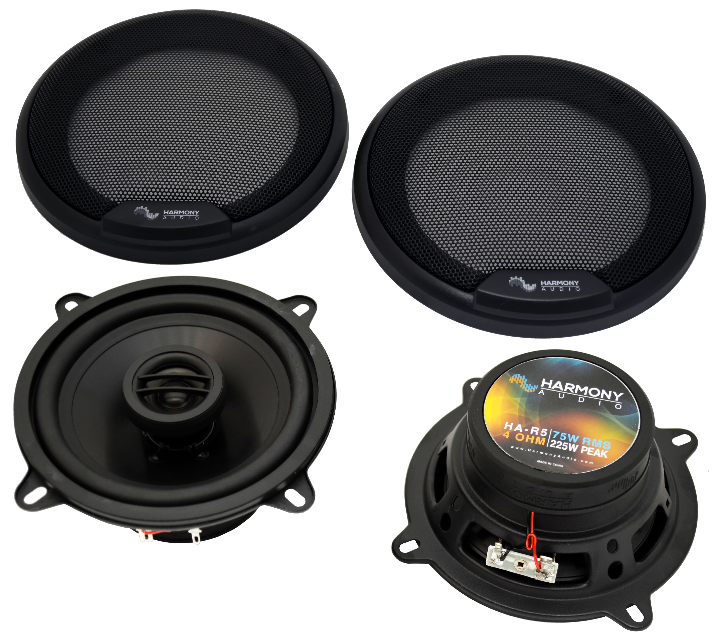 Fits Cadillac DeVille 1990-1995 Front Door Replacement Harmony HA-R5 Speakers