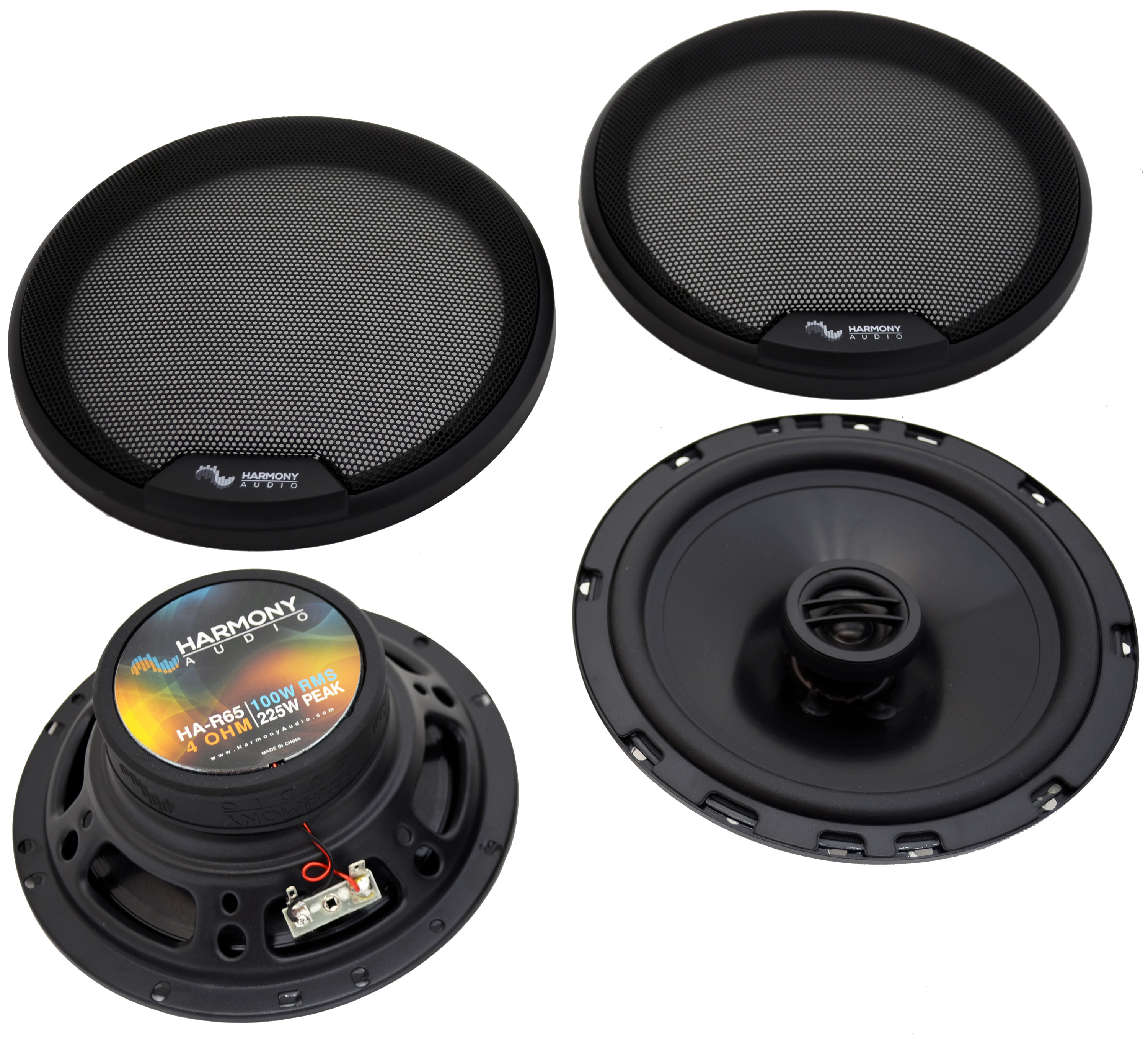 Fits Cadillac DeVille 2000-2005 Front Door Replacement Harmony HA-R65 Speakers