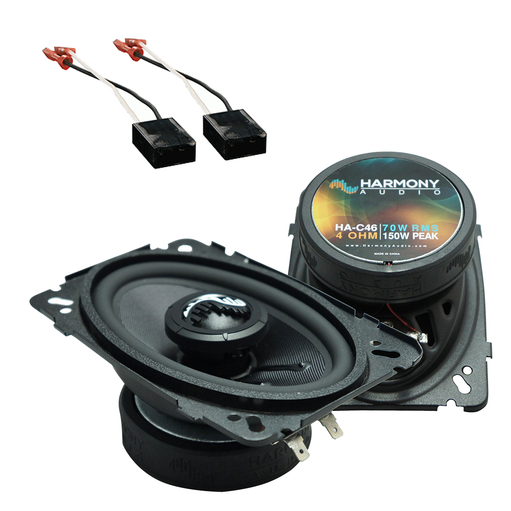 Fits Chevy Caprice 1985-1990 Front Dash Replacement Harmony HA-C46 Premium Speakers
