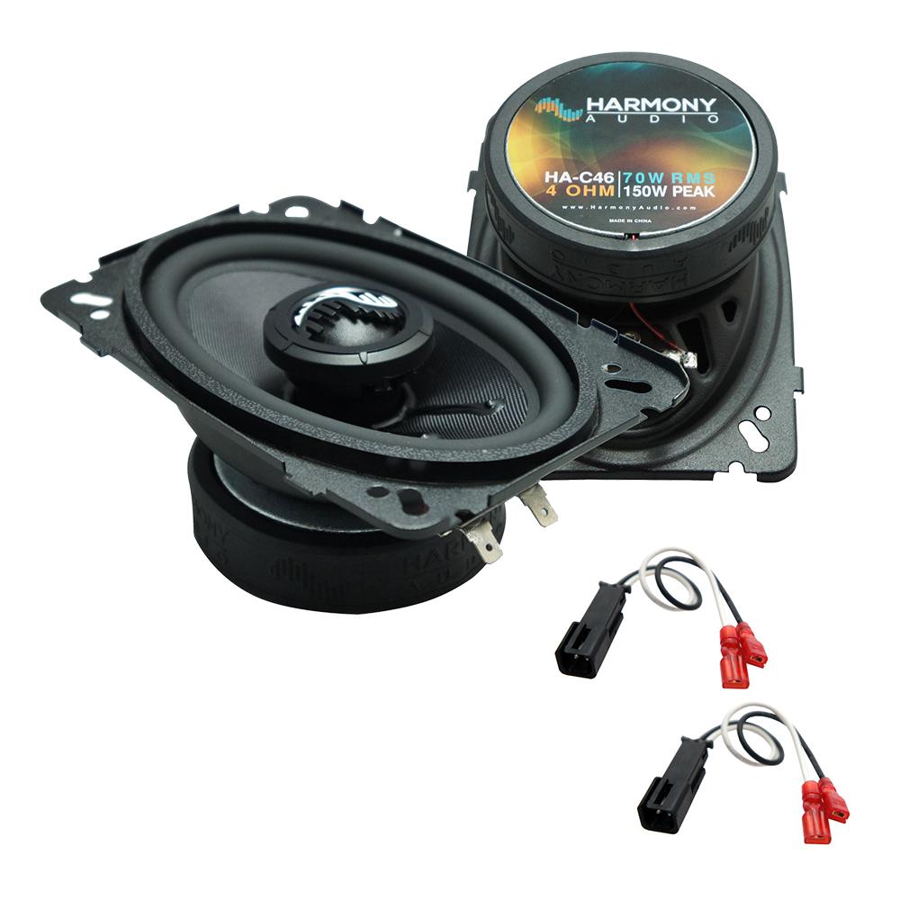 Fits Chevy Cavalier 1995-2005 Front Door Replacement Harmony HA-C46 Premium Speakers