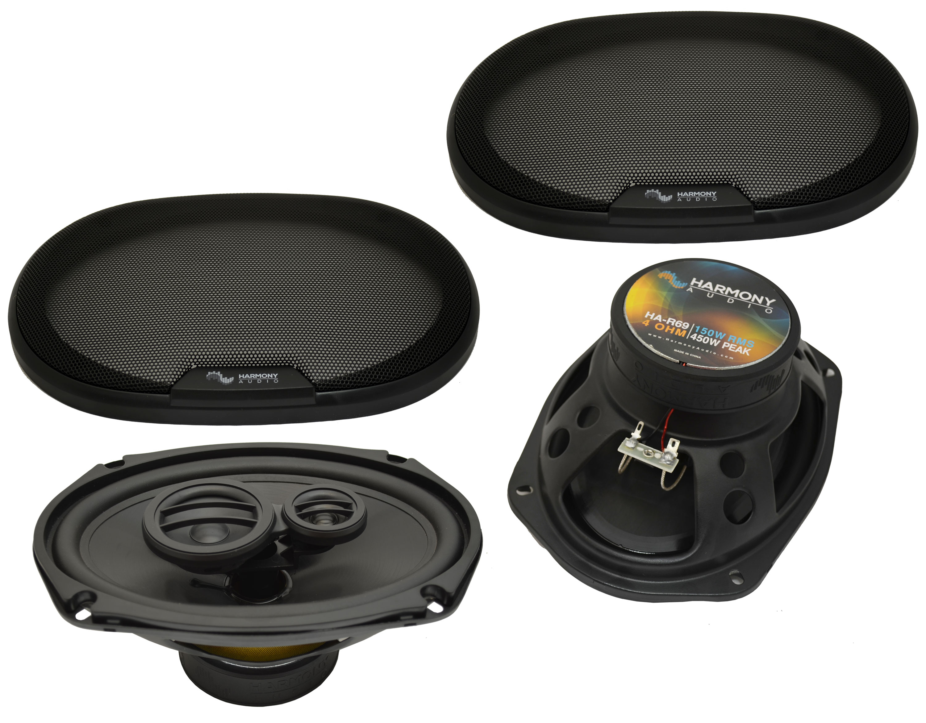 Fits Eagle Premier 1988-1992 Rear Deck Replacement Harmony HA-R69 Speakers New