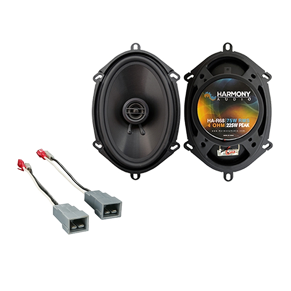 Fits Ford Escort 1985-1990 Rear Deck Replacement Speaker Harmony HA-R68 Speakers