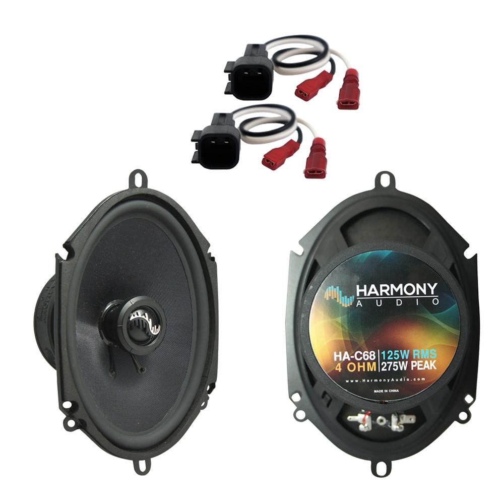 Fits Ford Expedition Fleet 2003 Front Door Replacement Harmony HA-C68 Premium Speakers