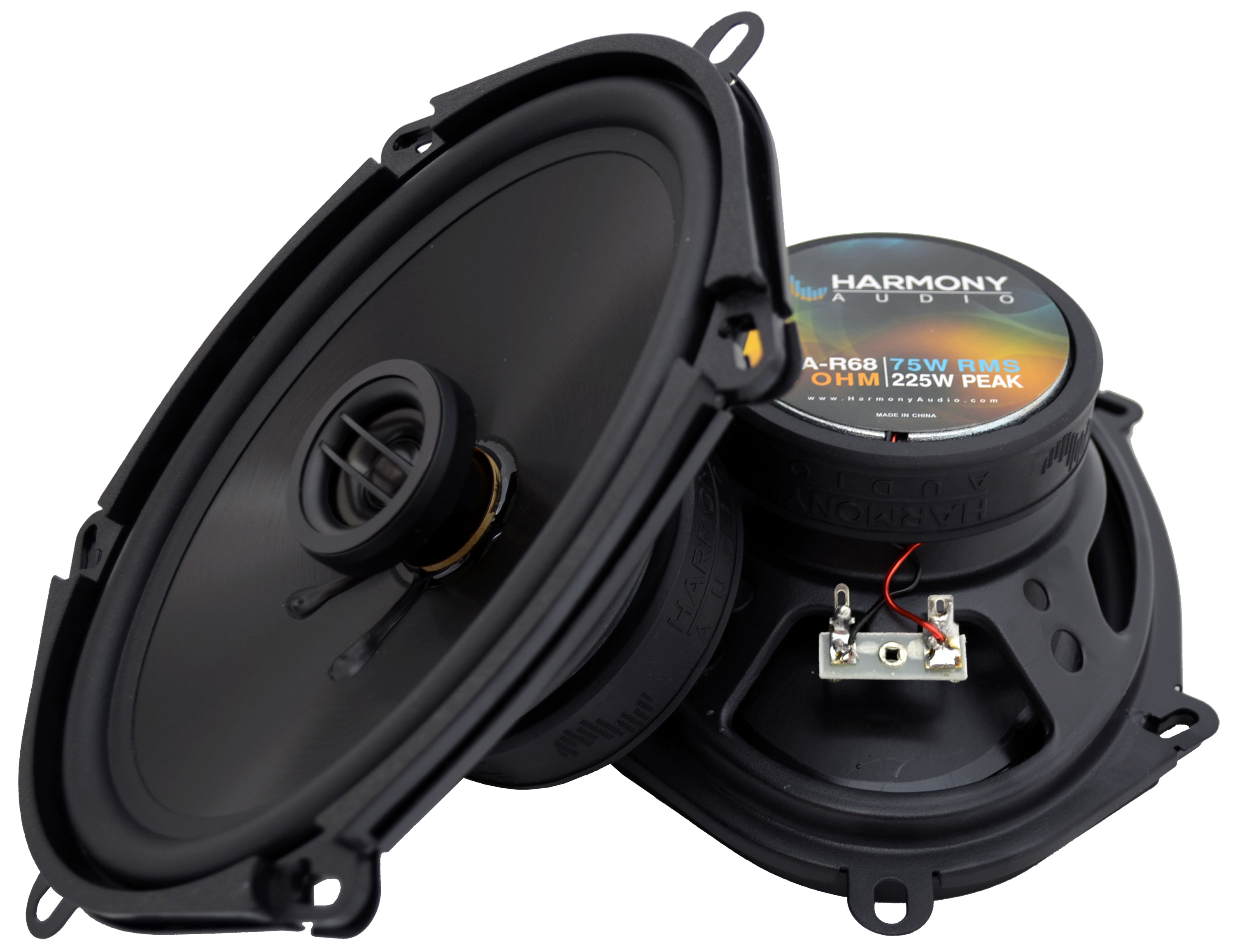 Fits Ford Five Hundred 2005-2007 Front Door Replacement Harmony HA-R68 Speakers