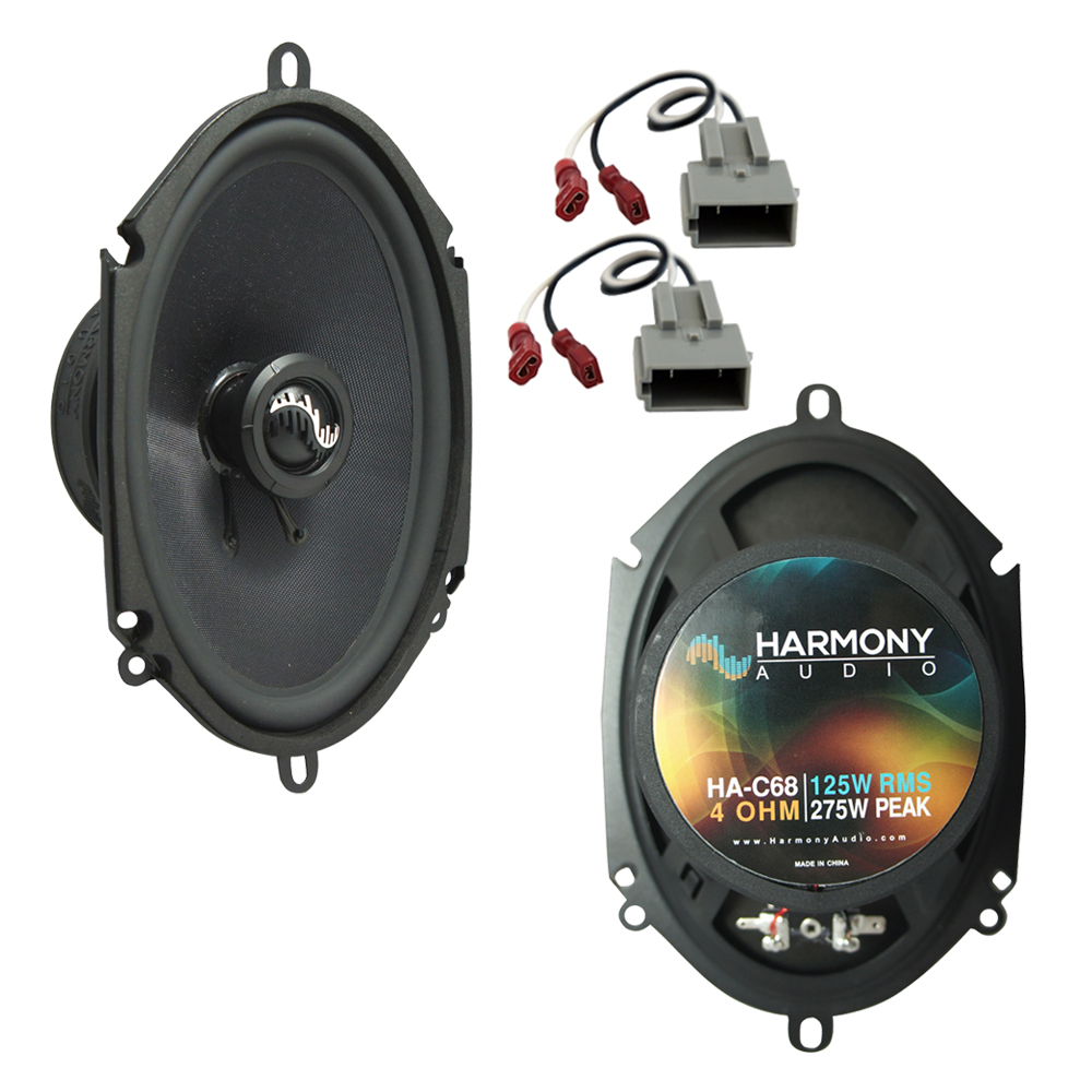 Fits Ford Mustang 1999-2004 Rear Side Panel Replacement Harmony HA-C68 Premium Speakers