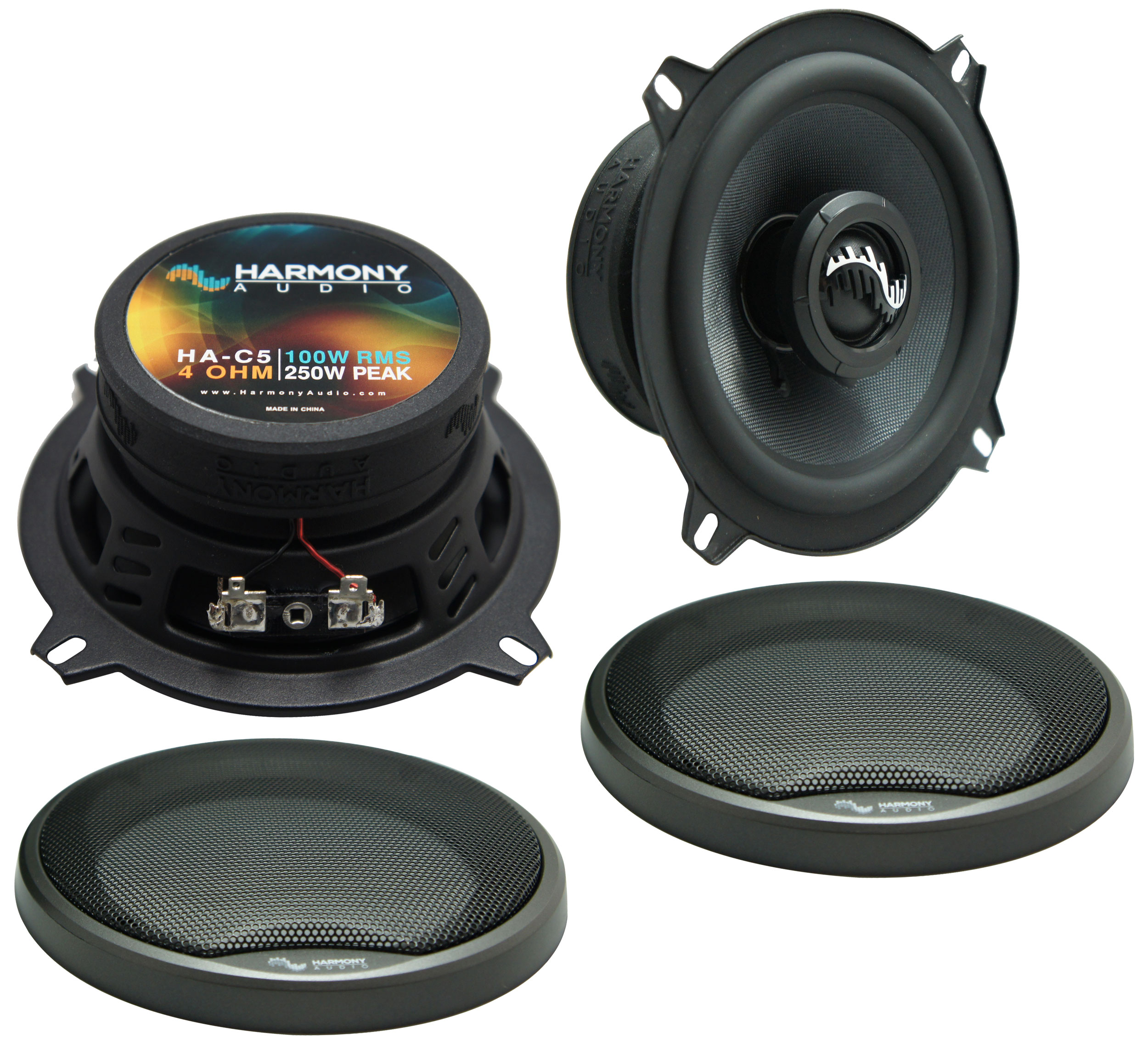 Fits Geo Prizm 1993-1997 Front Door Replacement Speaker Harmony HA-C5 Premium Speakers
