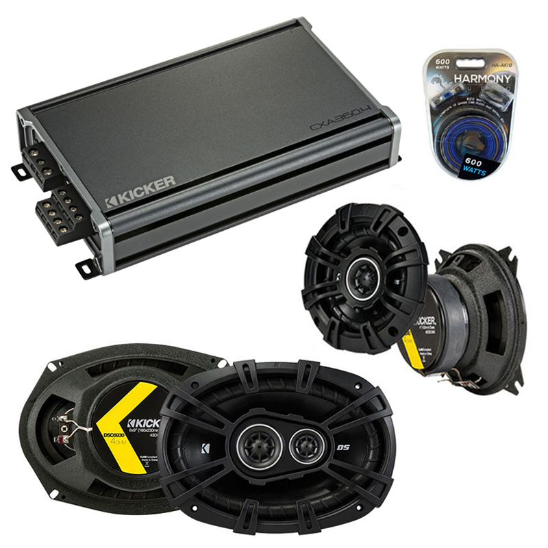 Compatible with Infiniti M30 1990-1992 Speaker Replacement Kicker DSC4 DSC693 & CXA360.4 Amp