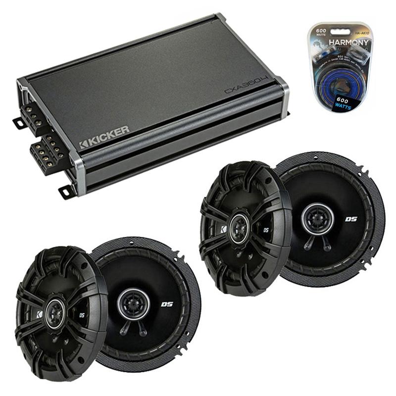 Compatible with Mercedes SLK-Class 05-11 Speaker Replacement Kicker (2) DSC65 & CXA360.4 Amp