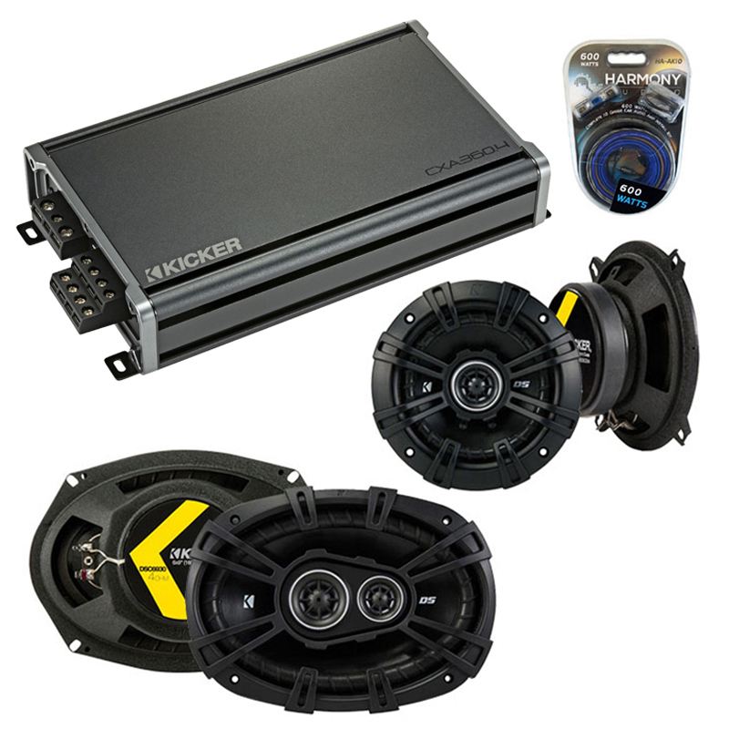 Compatible with Oldsmobile Aurora 1995-2000 Speaker Replacement Kicker DS Series & CXA360.4 Amp