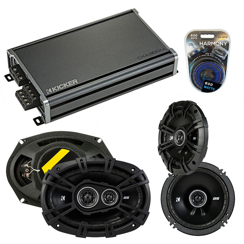 Compatible with Oldsmobile Aurora 2001-2003 Speaker Replacement Kicker DS Series & CXA360.4 Amp