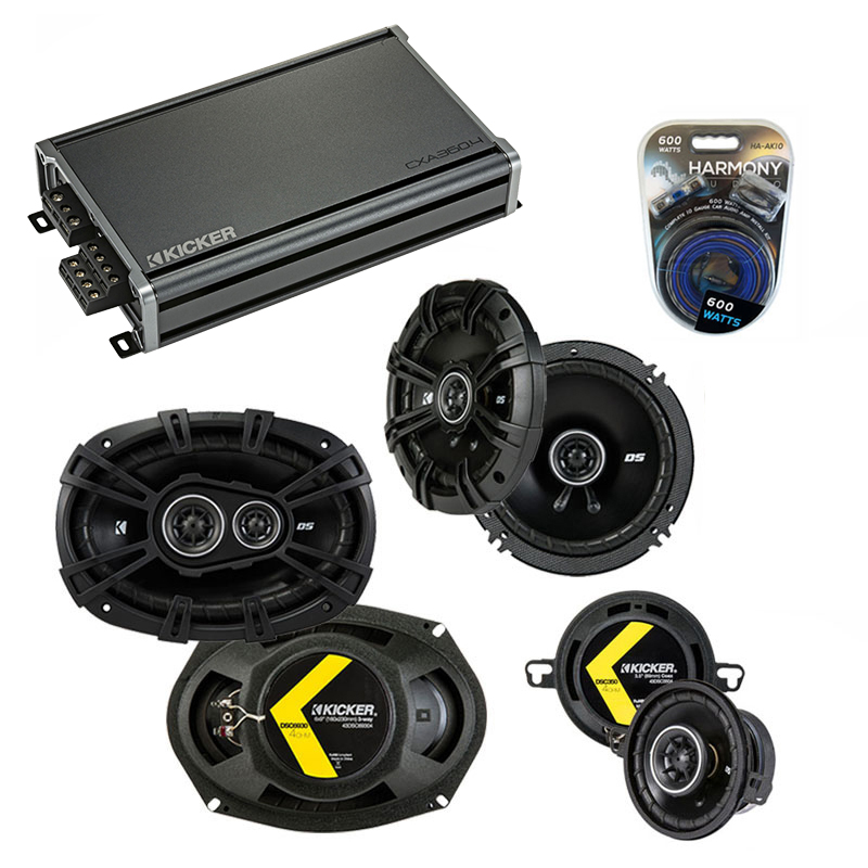Compatible with Oldsmobile Ninety-Eight 1985-1985 Speaker Replacement Kicker DS & CXA360.4 Amp