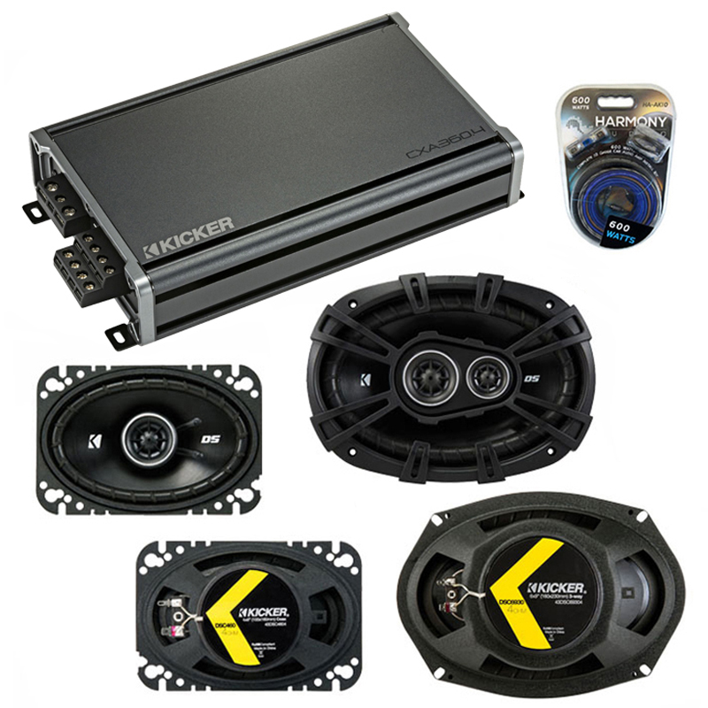 Compatible with Pontiac Firebird 1982-1992 Speaker Replacement Kicker DSC46 DSC693 & CXA360.4 Amp