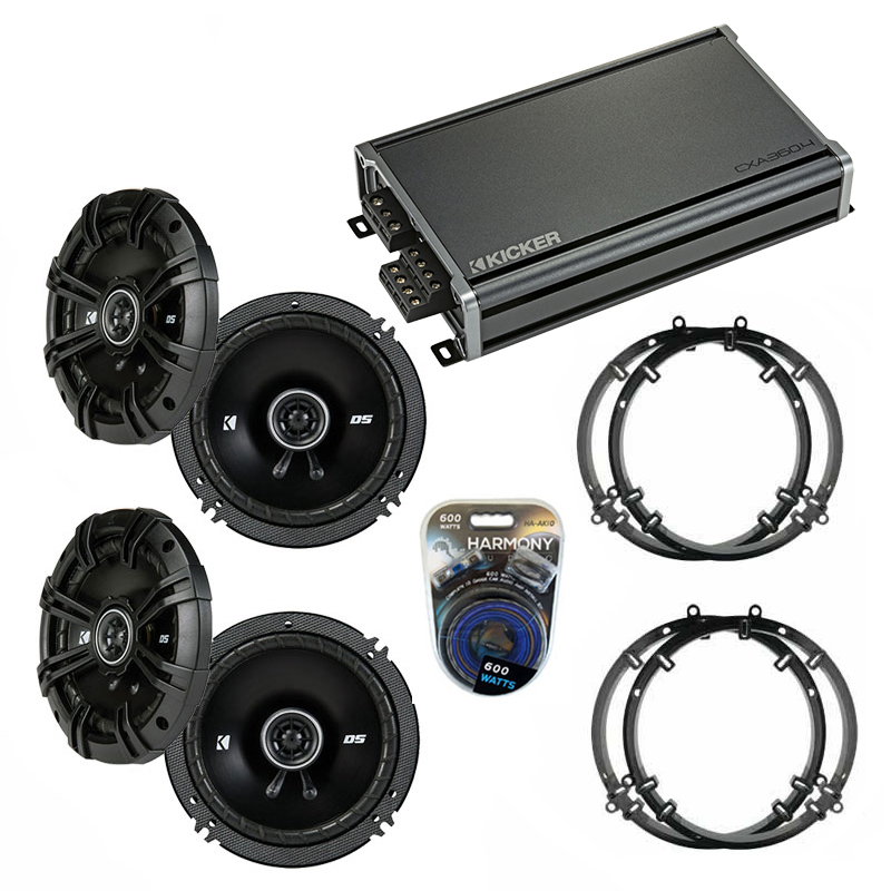Compatible with Volkswagen Golf 1999-2014 Factory Speaker Replacement Kicker (2) DSC65 & CXA360.4