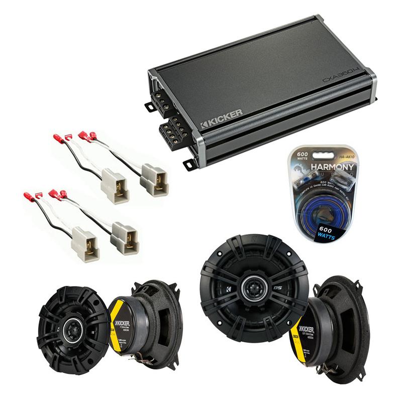 Compatible with Volkswagen Vanagon 80-85 Speaker Replacement Kicker DSC4 DSC5 & CXA360.4 Amp