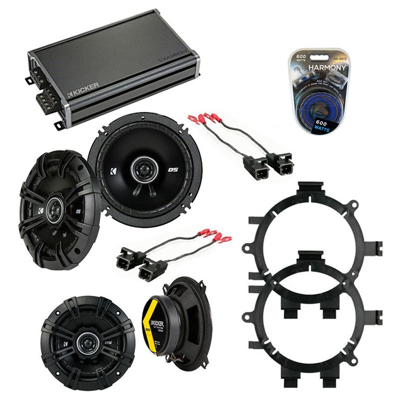 Compatible with Chevy Silverado Truck 2007-2013 Speaker Replacement Kicker DSC5 & CXA360.4 Amp