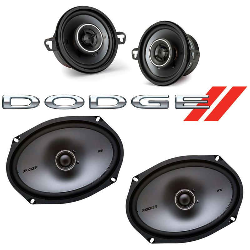 Dodge Aspen 1976-1980 Factory Speaker Upgrade Kicker KSC35 KSC69 Package New