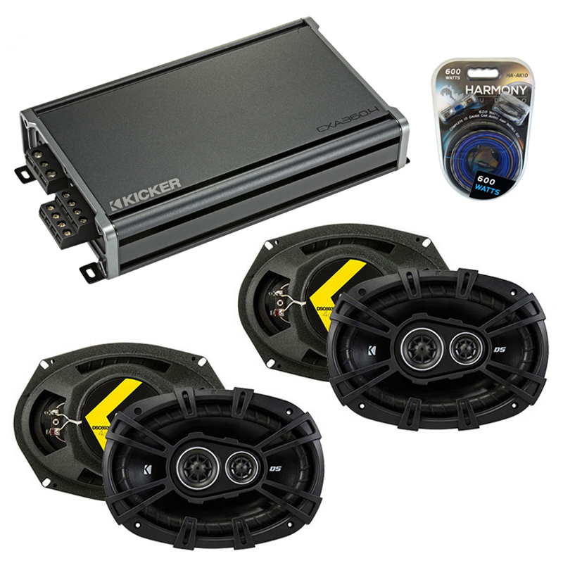 Compatible with Dodge Avenger 2007-2014 Factory Speaker Replacement Kicker (2) DSC693 & CXA360.4