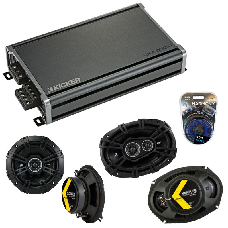 Compatible with Dodge Challenger 2008-2014 Speaker Replacement Kicker DSC693 DSC5 & CXA360.4 Amp