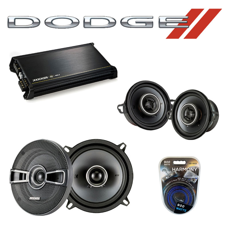 Dodge Colt Vista 1986-1986 OEM Speaker Upgrade Kicker KSC35 KSC5 & DX400.4 Amp