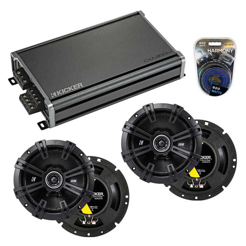 Compatible with Dodge Dakota 2008-2011 Factory Speaker Replacement Kicker (2) DSC67 & CXA360.4
