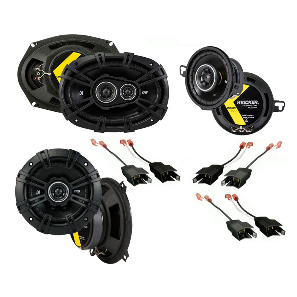Dodge Dynasty 1988-1993 Factory Speaker Replacement Kicker DS Series Package New