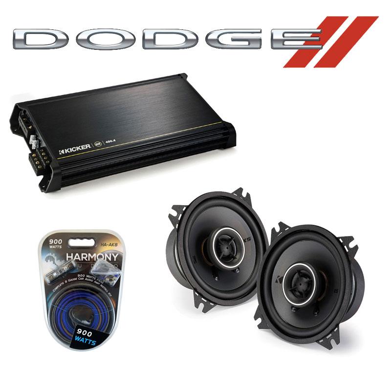 Dodge Sprinter 2003-2009 Factory Speaker Replacement Kicker KSC4 & DX400.4 Amp