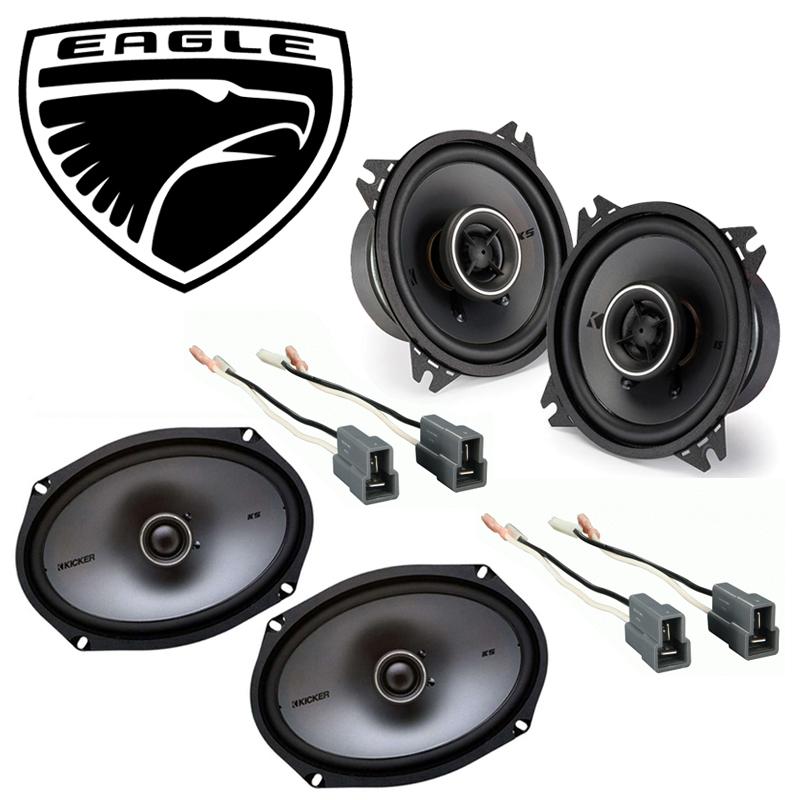 Eagle Summit 1988-1992 Factory Speaker Upgrade Kicker KSC4 KSC69 Package New