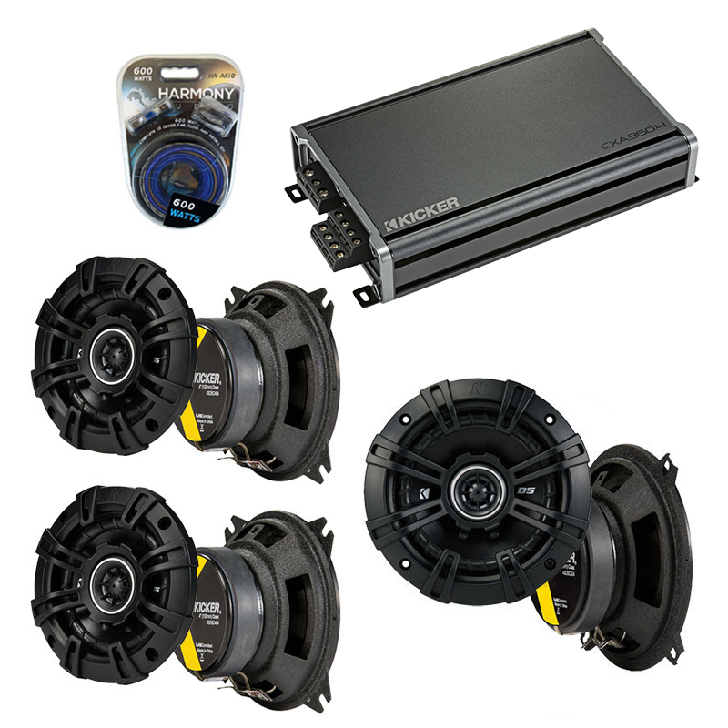 Compatible with Fiat Spider 1970-1983 Factory Speaker Replacement Kicker DSC4 DSC5 & CXA360.4