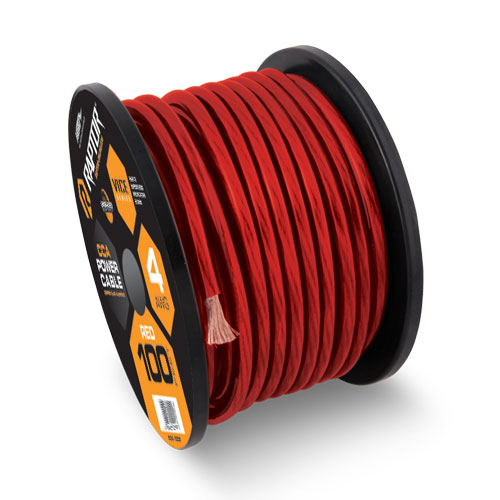 Raptor R31-0-20R Vice Series 1/0 Gauge Red Power Cable with 20 Feet Length & Copper Clad Aluminum Construction