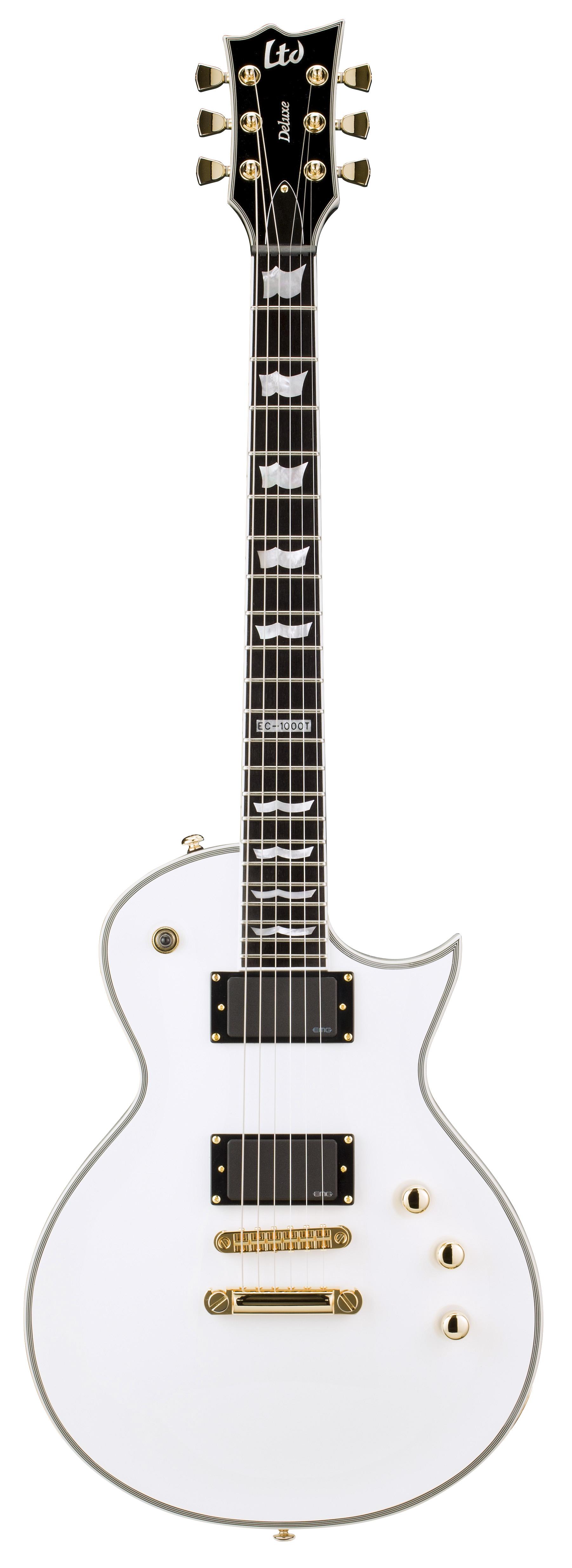 esp ltd ec 1000t ctm ec series electric guitar snow white finish mahogany w ebony fingerboard. Black Bedroom Furniture Sets. Home Design Ideas