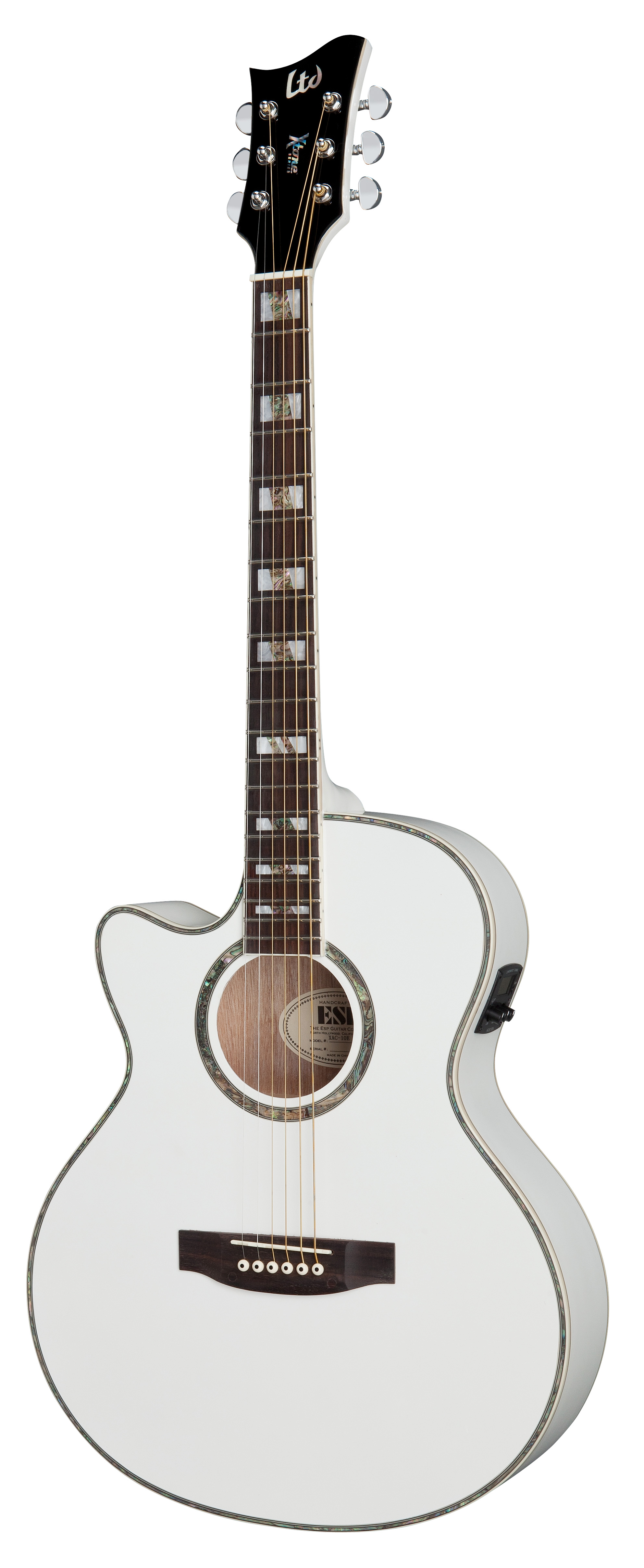 Esp Ltd Ac 10e Lh Xtone Acoustic Guitar For Left Handed Pearl White